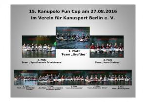 Siegertafel Fun-Cup 2016